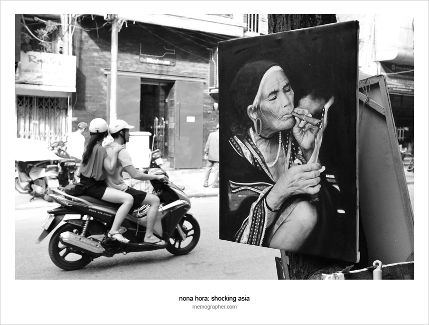 A Painting by the Street. Hanoi, Vietnam