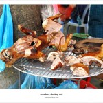 Street Food. Smoked Dog Meat. Hanoi, Vietnam