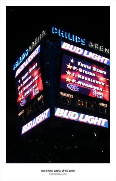 Philips Arena. Requiem for Atlanta Thrashers