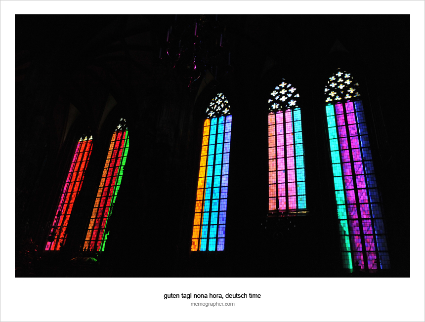 Colorful Stephansdom. Vienna, Austria