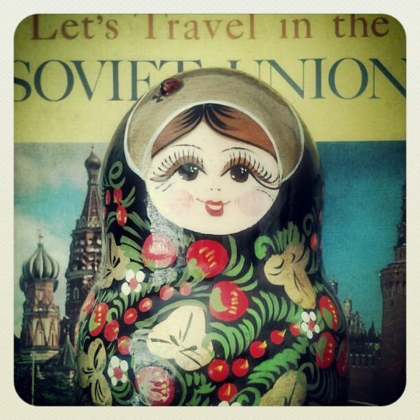 On My Shelves. Russian Nesting Doll