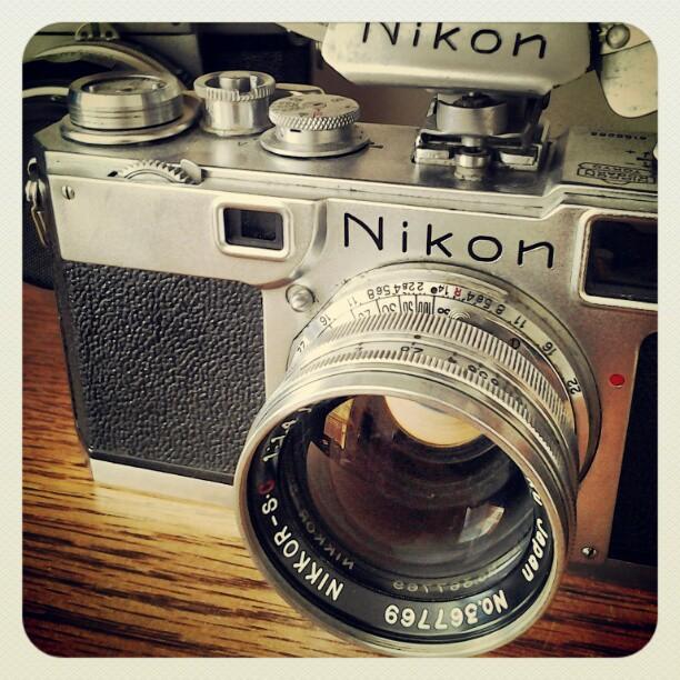 On My Shelves. Nikon S2 Rangefinder Vintage Camera