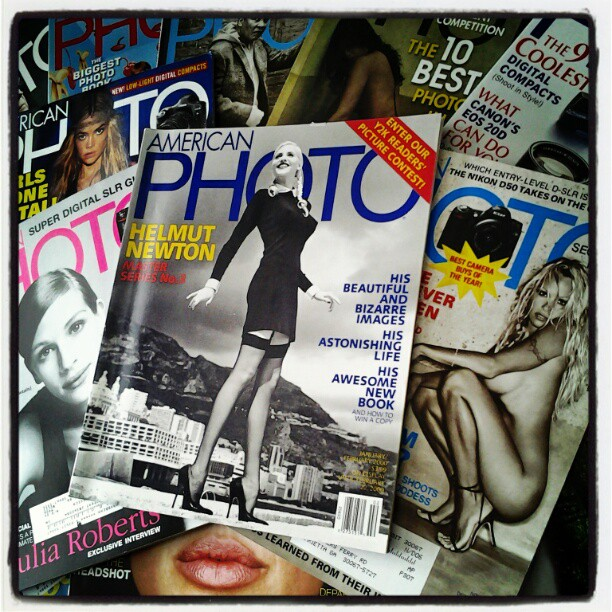 On My Shelves. American Photo Magazine Subscription including Helmut Newton's Issue