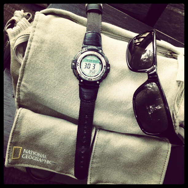 My Travel National Geographic Photo Bag, Travel Watch with Digital Compass and Thermometer, Travel Sun Glasses