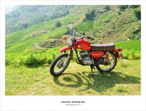 Soviet Motorcycle Minsk rented in Sapa Vietnam
