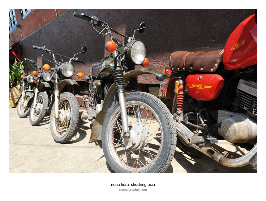 A Vintage Soviet Motorcycle Minsk for Rent in Sapa Vietnam