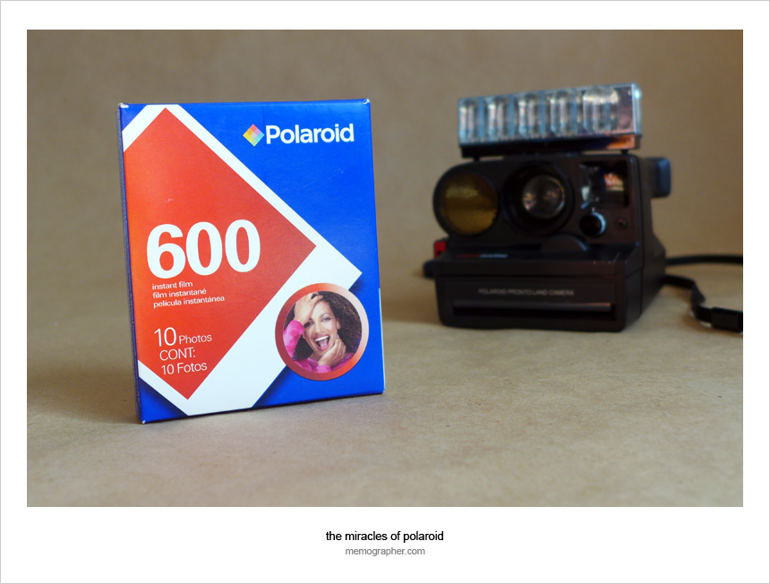 Using Polaroid 600 Film for SX-70 Polaroid Pronto! Sonar OneStep