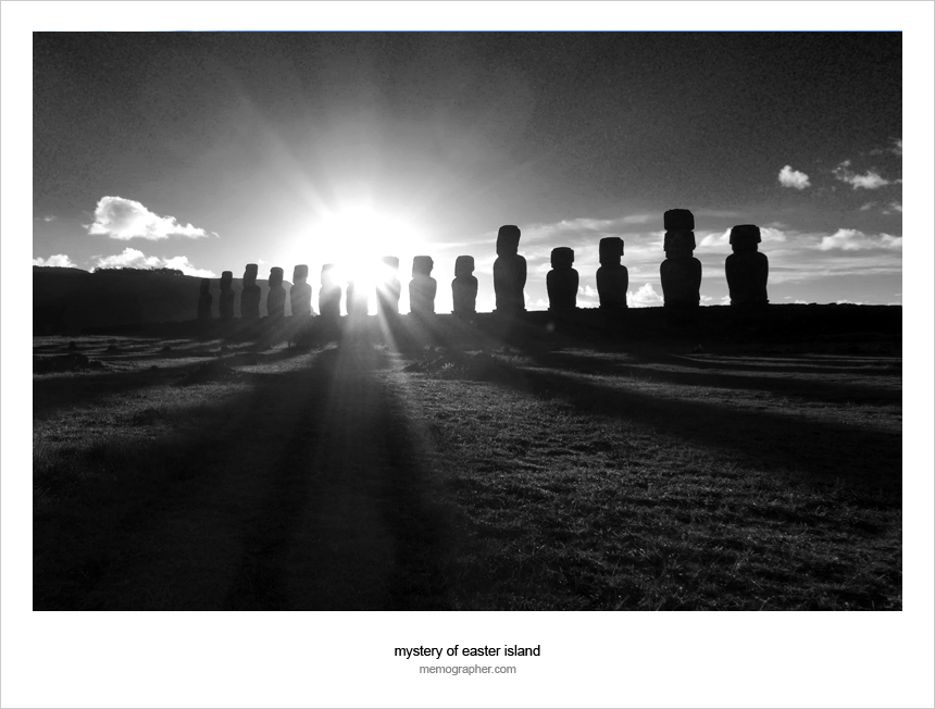 Moai. Easter Island, Chile