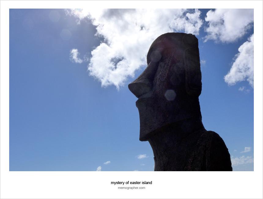 Moai. Easter Island, Chile