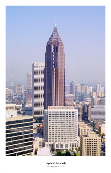 The Bank of America Plaza, the tallest building in Atlanta and any U.S. state capital