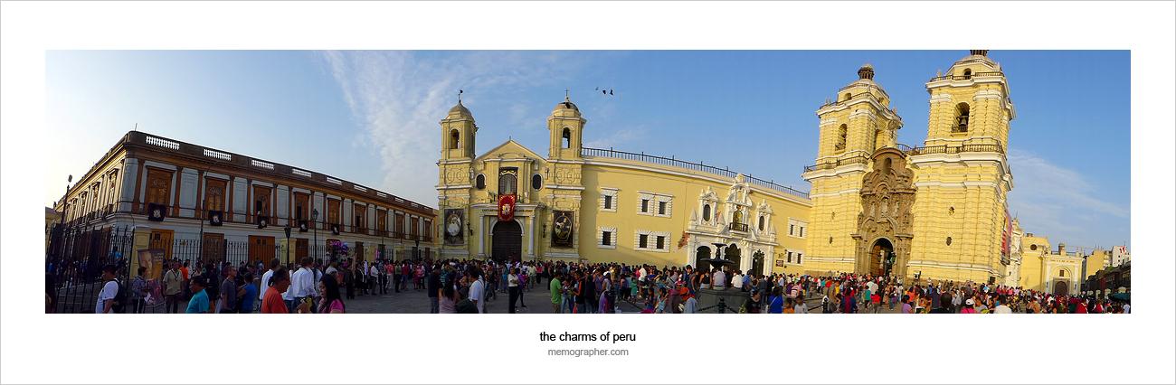 St.Peter's Church at Basilica de San Francisco. Lima, Peru
