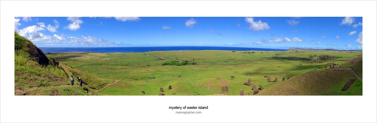Easter Island from volcano Rano Raraku
