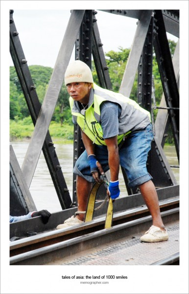 Railroad Worker. The Bridge Over The River Kwai