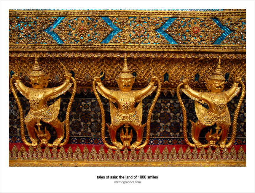 Garudas in Wat Phra Kaew, Bangkok