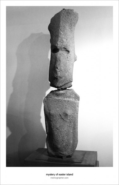 The Female Moai. Easter Island Museum