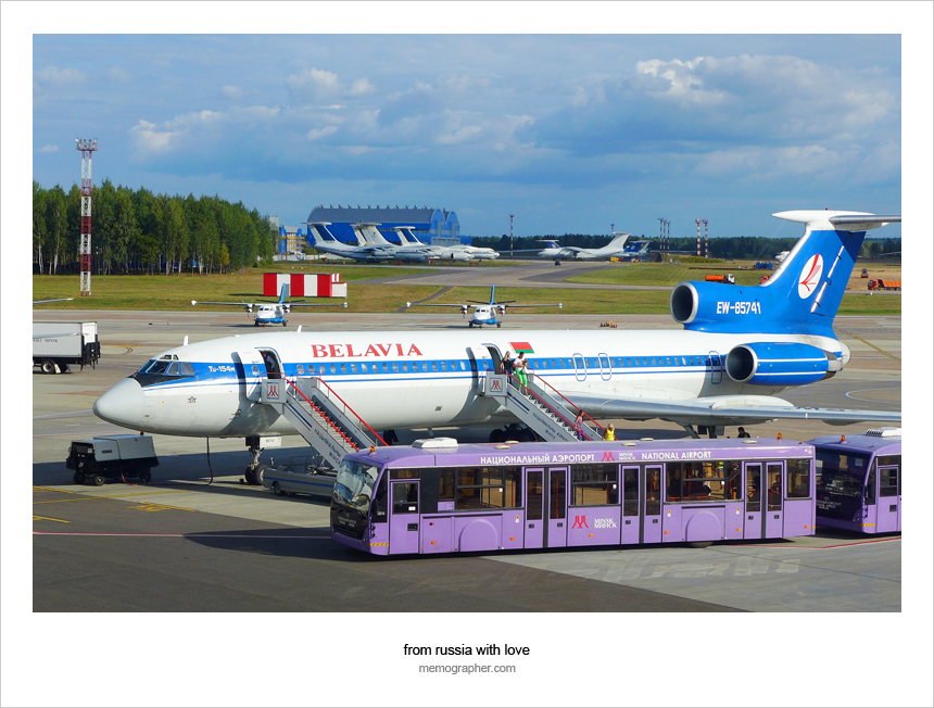Belavia Tupolev Tu-154M at Minsk National Airport (MSQ)