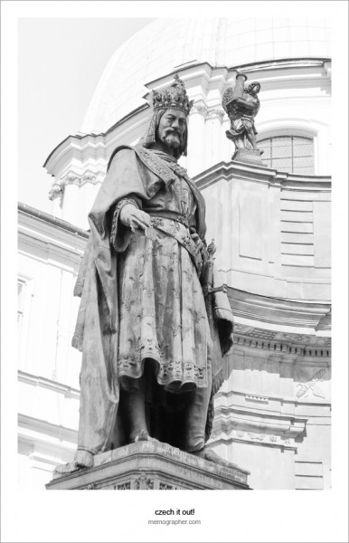 Statue of Charles IV (Karolo Quarto). Prague, Czech Republic
