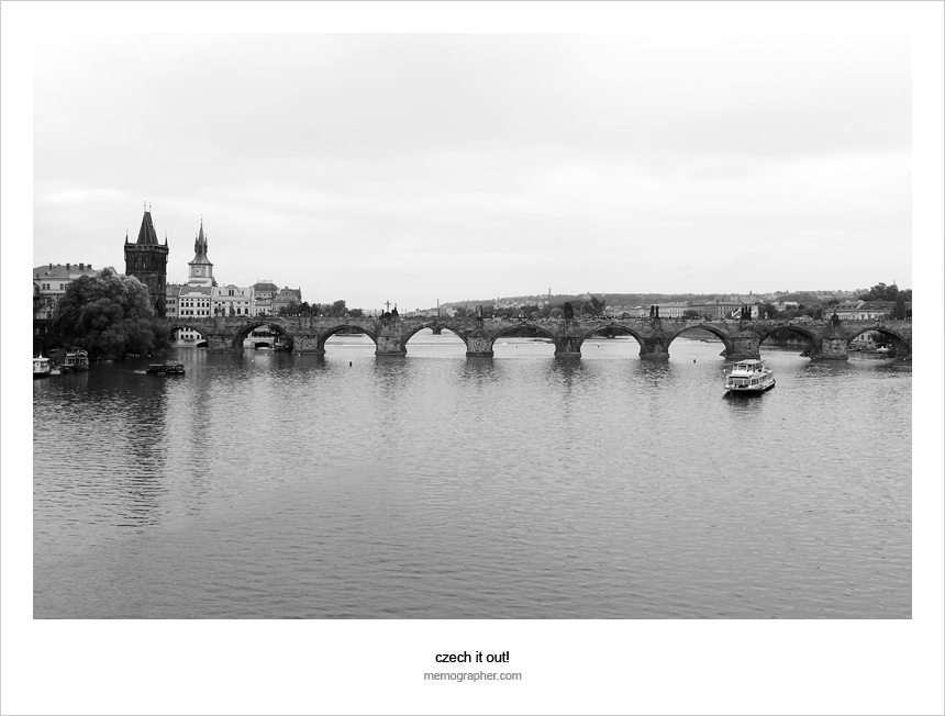The Charles Bridge (Karlův most). Vltava river, Prague, Czech Republic