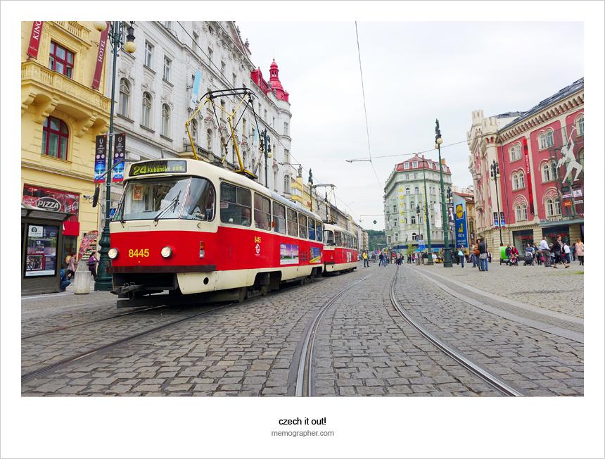 The Tram. Prague, Czech Republic