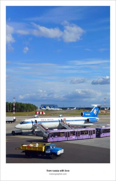 Belavia Tu-154M at Minsk National Airport (MSQ)