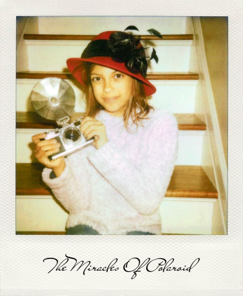 The Miracles Of Polaroid: Girl With A Red Hat