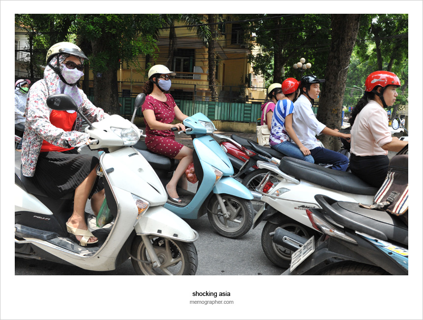 Hanoi Old Quarter Street Bikers