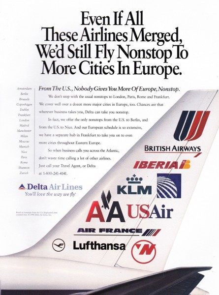 "1996 Delta Airlines ""You'll Love The Way We Fly"" Magazine Ad"