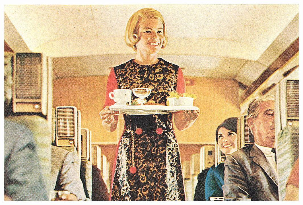 1969 Delta Airlines Stewardess Flight Attendant No Floor Show Print Ad