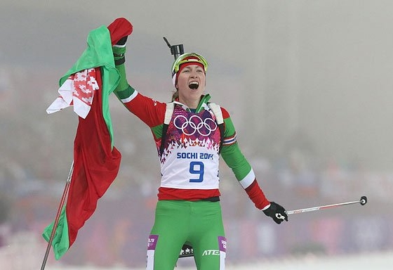 Gold Medalist of the Sochi 2014 Olympics Biathlon Darya Domracheva - Дарья Домрачева