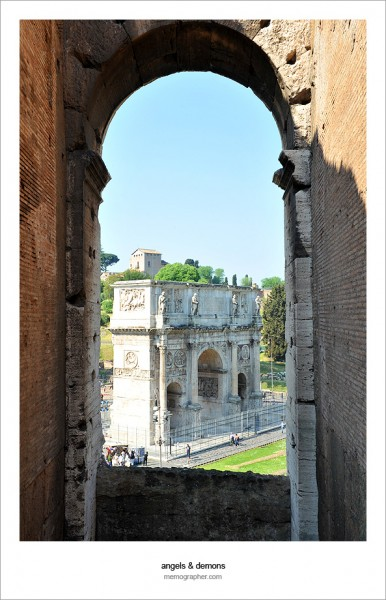 Arch of Constantine from Colosseum