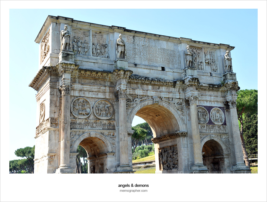 Arch of Constantine. Rome, Italy