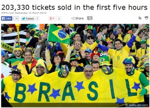 2014 FIFA World Cup Brazil Game Tickets Availability