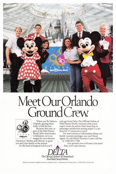 1992 Delta Airlines Orlando Ground Crew Print Ad