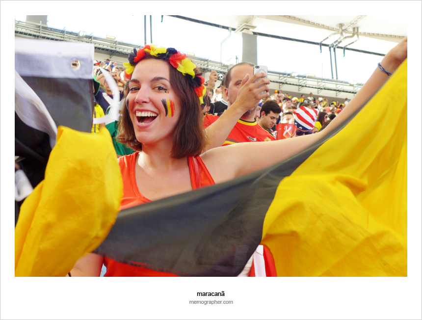 Maracana Stadium. 2014 FIFA World Cup Brazil. Belgium v Russia