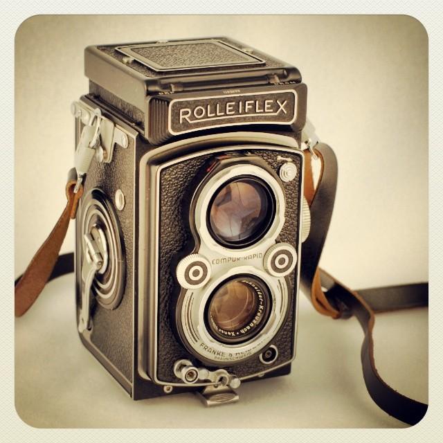 On My Shelves. Rolleiflex Photo Camera