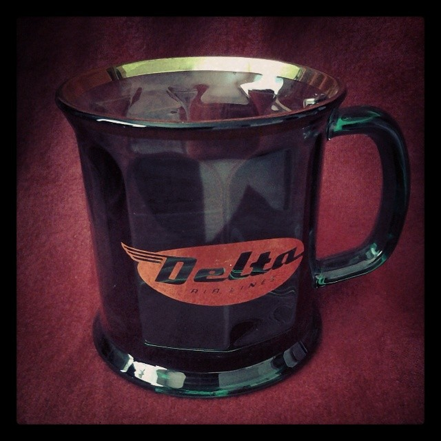 On My Shelves. A Rare Delta Airlines Mug, 1950s