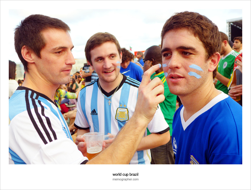 Street and Beach Portraits of Football Fans