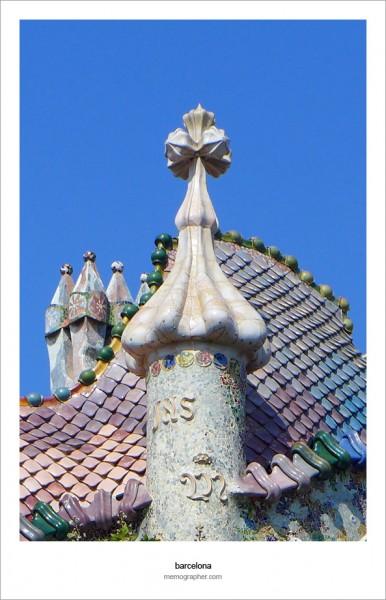 Casa Batllo, Antoni Gaudi. Barcelona, Spain