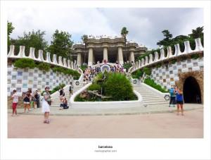 Park Guell, Antoni Gaudi. Barcelona, Spain