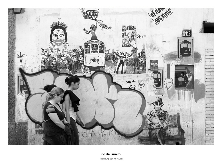 Graffiti Wall Murals. Street Art in Rio de Janeiro