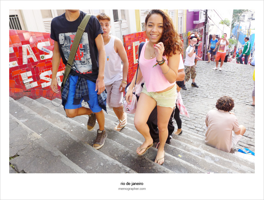 The Selaron Steps. Rio de Janeiro, Brazil