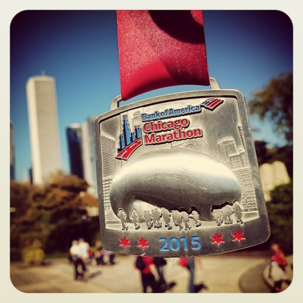 The Chicago Marathon Finisher's Medal
