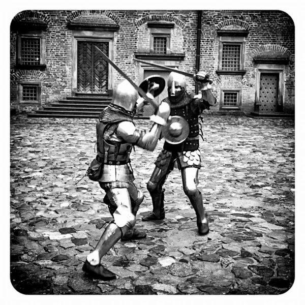 The Knights Fight. Mir Castle, Belarus