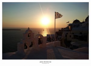 Sunset in Oia. Santorini, Greece