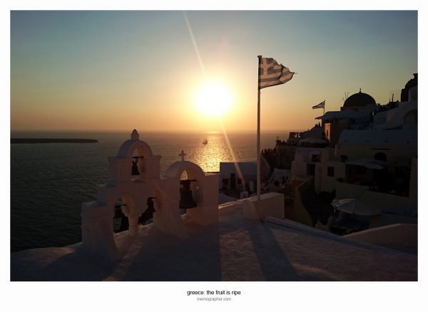 Sunset in Oia. Santorini, Greece