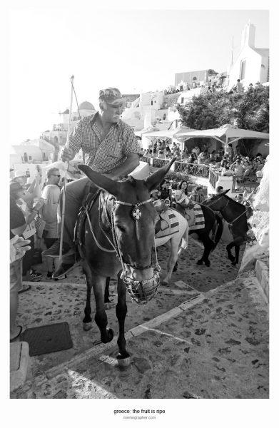 Street Photography. Oia, Santorini, Greece