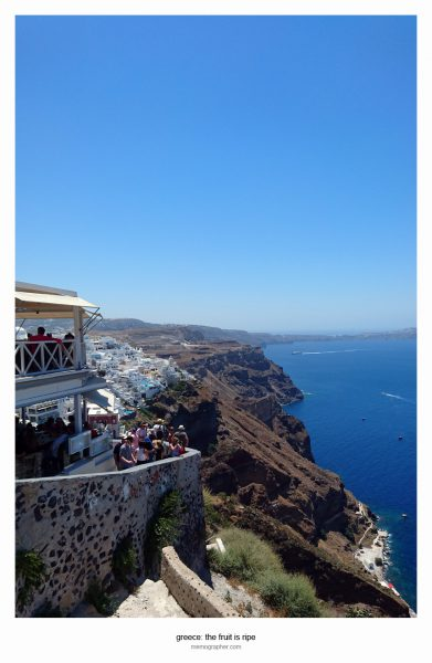 The Views and Streets of Fira, Santorini